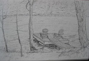 This is the pencil sketch of the dock.