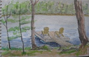 dock watercoloured