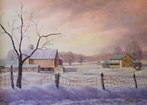 This painting was done in 2006 of a farm just outside St. Jacobs.