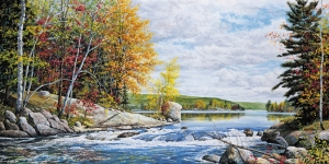A tranquil fall scene