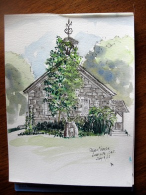 school house sketch