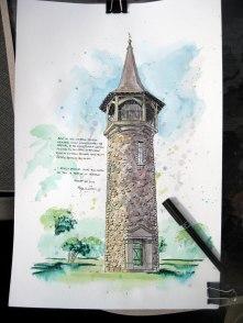 Pioneer Tower Sketch