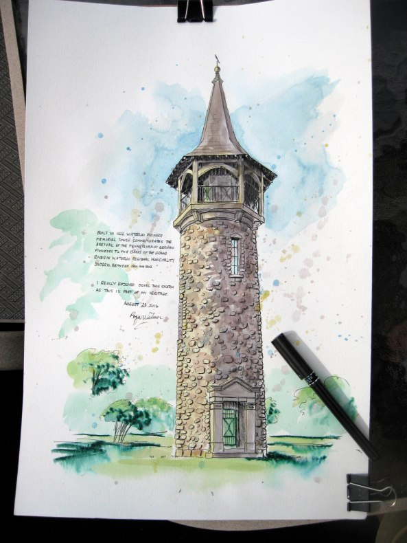 Pioneer Tower Sketch